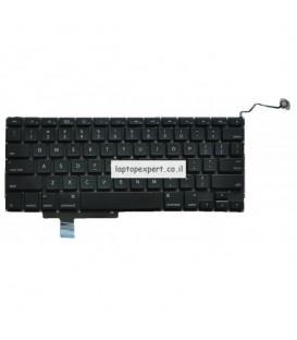 """מקלדת להחלפה במחשב נייד אפל מקבוק פרו גודל מסך 17 אינטש Apple Macbook Pro Unibody 17"""" A1297 Keyboard 2009 2010 2011"""