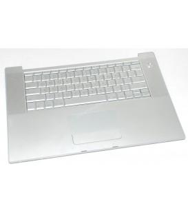 """מקלדת להחלפה במחשב מקבוק כולל משטח עכבר Apple MacBook Pro A1226 15"""" PalmRest w Touchpad + Keyboard 620-3968-A"""
