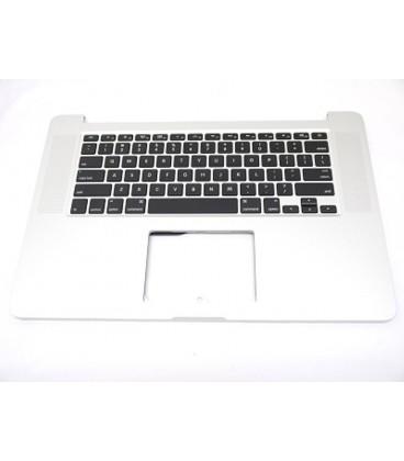 חיפוי מקלדת עליונה כולל מקלדת ומשטח עכבר Top Case Topcase Palmrest for MacBook Pro 15 A1398 Retina Year 2012-2013