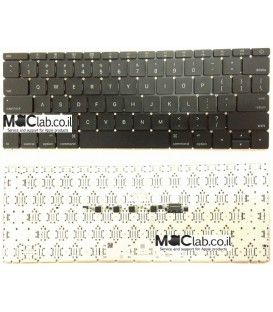 החלפת מקלדת במחשב מקבוק Apple A1534 MacBook Core M1.3 12 - Early 2015 Keyboard Replacment