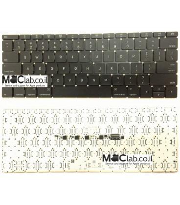 החלפת מקלדת במחשב מקבוק Apple A1534 MacBook Core M1.3 12 - Early 2015 Keyboard Replacment