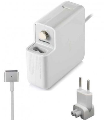 """מטען מקורי למחשב אפל מקבוק רטינה  משנת 2012 ומעלה  Apple 60W Macbook 13"""" 16.5V 3.65A Adapter Charger Magsafe 2 A1425 A1435"""