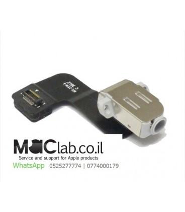 יציאת מיקרופון להחלפה באפל מקבוק Macbook Pro Retina A1425 Headphone Jack Audio Port  2012 2013