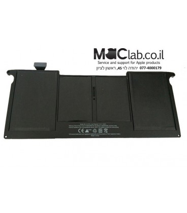 """סוללה מקורית להחלפה במחשב נייד אפל מקבוק אייר Apple MacBook Air 11.6"""" Replacement Battery A1370 A1375 (2010 - 2013)"""