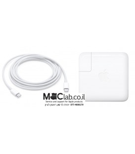 "מטען מקורי למקבוק החדש טאץ בר MacBook Pro 15"" with Touch Bar 87W PD type-c power charger adapter A1719"