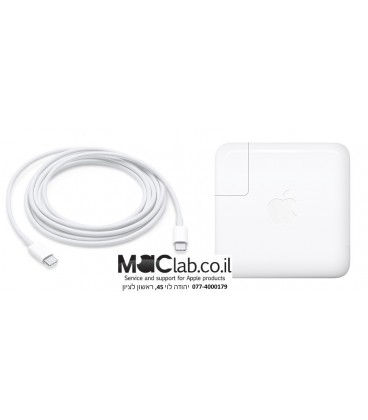 "מטען למקבוק החדש טאץ בר MacBook Pro 15"" with Touch Bar 87W PD type-c power charger adapter A1719"