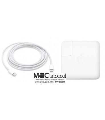 """מטען למקבוק החדש טאץ בר MacBook Pro 15"""" with Touch Bar 87W PD type-c power charger adapter A1719"""