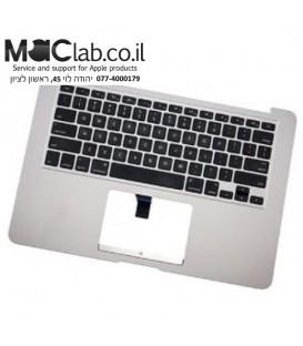 """תושבת יד שניה עליונה למחשב מקבוק אייר Apple MacBook Air 13"""" 2013 2014 A1466 Palmrest Touchpad Keyboard 069-9397-D"""