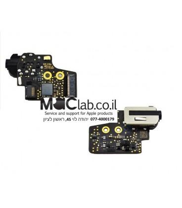 """שקע אוזניות להחלפה במחשב מקבוק Audio Jack Board 820-4049-B for Apple MacBook 12"""" Retina A1534 2015 2016"""