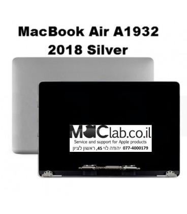 קיט מסך להחלפה מקבוק אייר החדש 2018 - Macbook A1932 Laptop full lcd assembly silver full lcd assembly