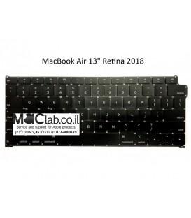 """מקלדת להחלפה במחשב מקבוק אייר רטינה MacBook Air 13"""" Retina 2018 Keyboard Replacement"""
