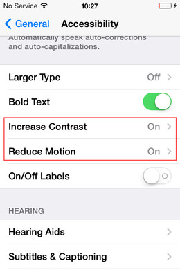 שיפור ביצועי אייפון iPhone 4, 4s, iPad 2 and iPad mini עם iOS 7